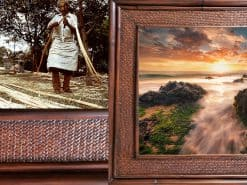 Captive in Kihei Hawaii Rattan Frame