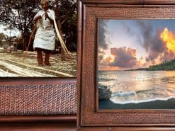 Darkness and the light Hawaii Rattan Frame