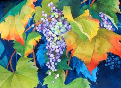 KNN Autumn Leaves & Grapes