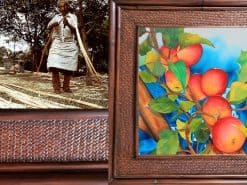 Karin Novak-Neal Apples Hawaii Rattan Frame