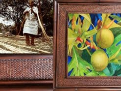 Karin Novak-Neal Breadfruit Hawaii Rattan Frame
