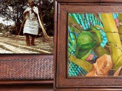 Karin Novak-Neal Green Coconuts Hawaii Rattan Frame