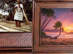 Kihei Daydream sunset Hawaii Rattan Frame