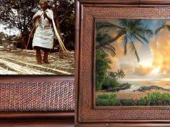 Kings Sunset Hawaii Rattan Frame Website