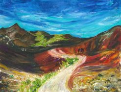 MR Paintbrush & Sky Haleakala 12x16