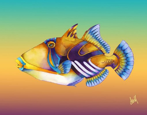 ND Picasso Triggerfish 17x21