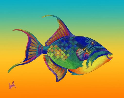 ND Queen Triggerfish 17x21