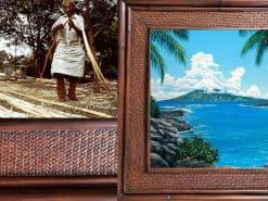 Richard Fields Kapalua Bay Hawaii Rattan Frame