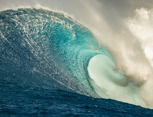Pitted at Peahi Wave photograph by scott hareland