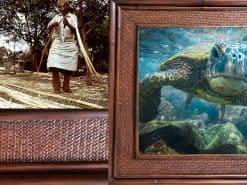 Scott Hareland Curious Honu Rattan Frame