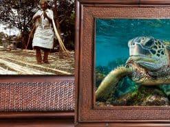 Scott Hareland Eye to Eye Hawaii Rattan Frame