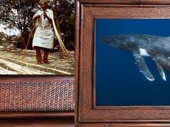 Scott Hareland Into The Blue Hawaii Rattan Frame