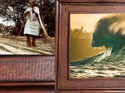 Scott Hareland Lions Breath Hawaii Rattan Frame