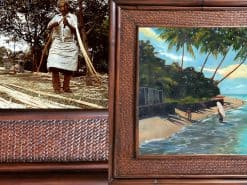 George Young Shark Pit Hawaii Rattan Frame Website
