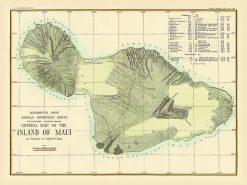 1880 Alexander USGS Maui (with Distances)