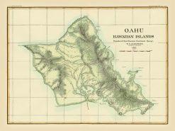 1884 Alexander USGS Oahu