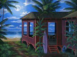 BS Hawaiian Beach Cabin Moon
