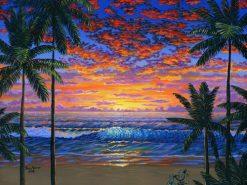 BS Hawaiian Beach Sunset Cobalt