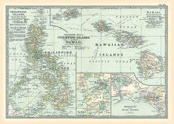 1902 Century Atlas Phillipines & Hawaii