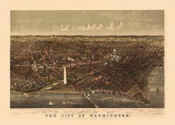 1892 Currier & Ives Washington DC