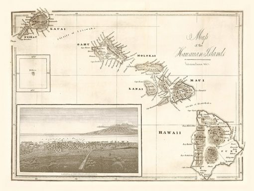 1843 Dibble Hawaiian Islands with Lahainaluna View