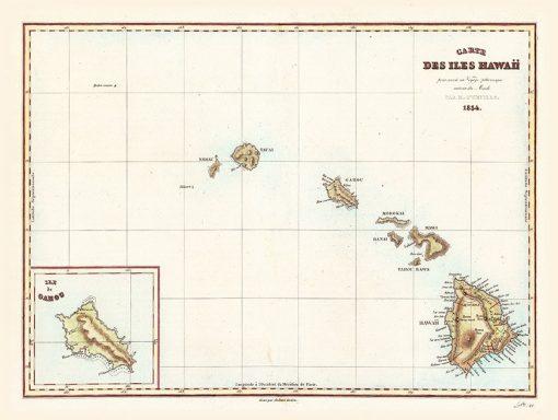 1834 D'urville Des Isle Hawaii