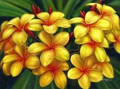 Yellow Plumeria Cluster