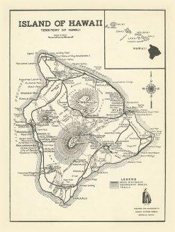 1939 Hawaii Visitors Bureau Hawaii (Big Island)