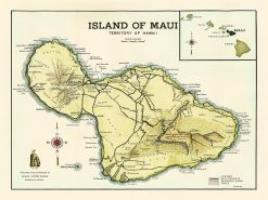 1956 Hawaii Visitors Bureau Maui