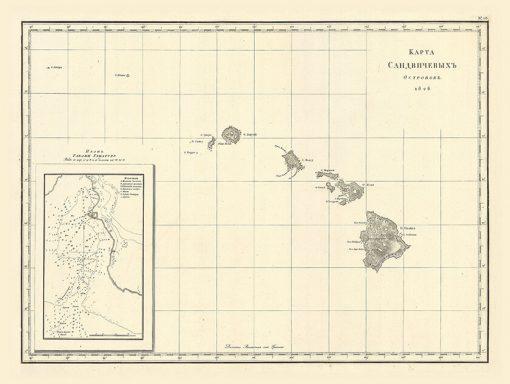 1827 Krusierstern Sandwich Isles