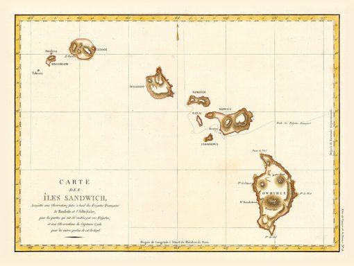 1797 La Perouse Sandwich Isles