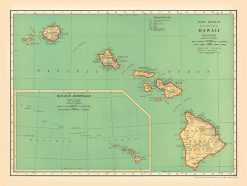 1935 Rand McNally Hawaii