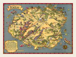 1923 Ruth Taylor White Kauai Fun Map