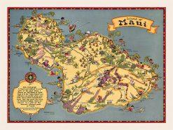 1923 Ruth Taylor White Maui Fun Map