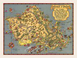 1923 Ruth Taylor White Oahu Fun Map