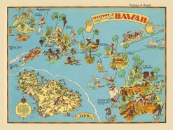 1935 Ruth Taylor White Territory of Hawaii with Maui Inset