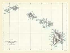 1868 Royal Geographical Sandwich Islands