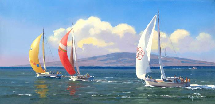 Sailing Off Lanai