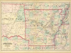 1874 Asher & Adams Arkansas