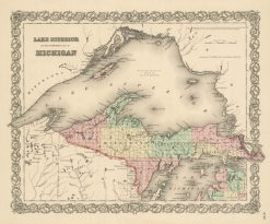 1846 Colton Lake Superior & Northern Michigan