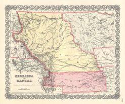 1857 Colton Nebraska & Kansas