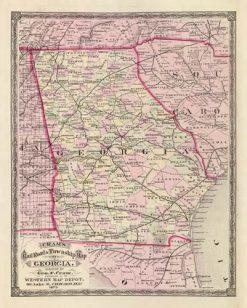 1875 Cram Georgia