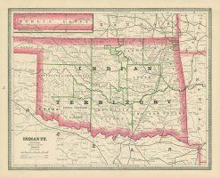 1884 Cram Indian Territory