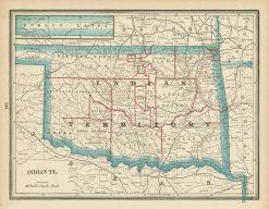 1898 Cram Indian Territory