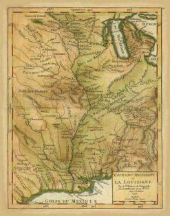 1749 De Vaugondy Mississippi River