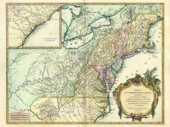 1755 De Vaugondy New England
