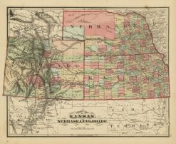 1875 Everts Kansas, Nebraska & Colorado