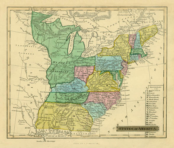 1838 Fisher States of America (East Coast)