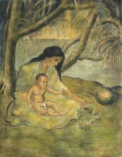 Hawaiian Mother & Child