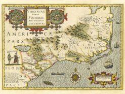 1641 Hondius Virginia & Florida